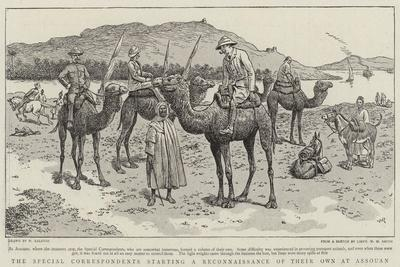 The Special Correspondents Starting a Reconnaissance of their Own at Assouan-William Ralston-Giclee Print