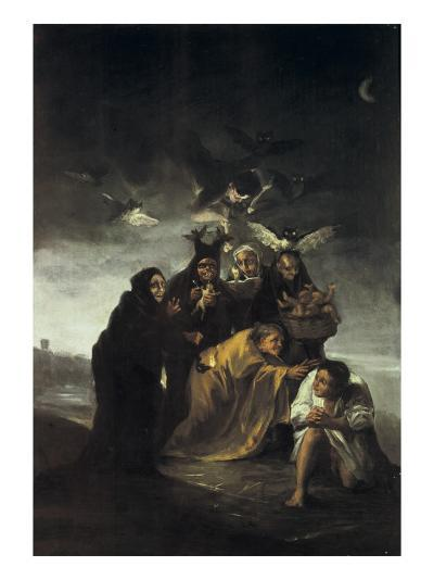 The Spell or the Witches-Francisco de Goya-Art Print