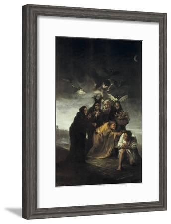The Spell or the Witches-Francisco de Goya-Framed Art Print