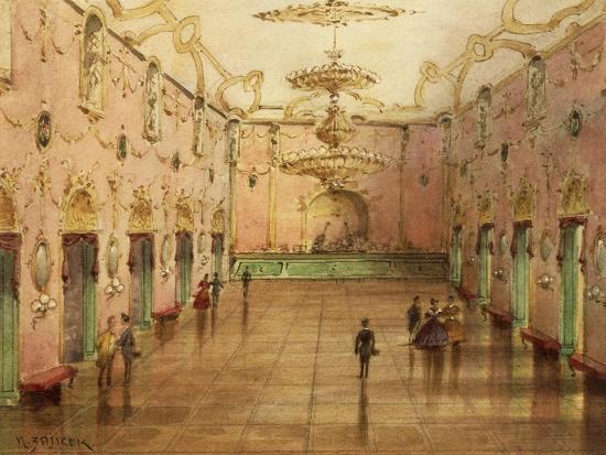 The Sperl Saal, Dancehall Where Johann Strauss' Waltzes Were Played-Kerpel Lipot-Giclee Print