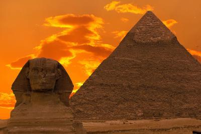The Sphinx And Great Pyramid, Egypt-Dmitry Pogodin-Photographic Print