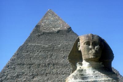 The Sphinx and Pyramid of Khafre (Chephren), Giza, Egypt, 4th Dynasty, 26th Century Bc-CM Dixon-Photographic Print