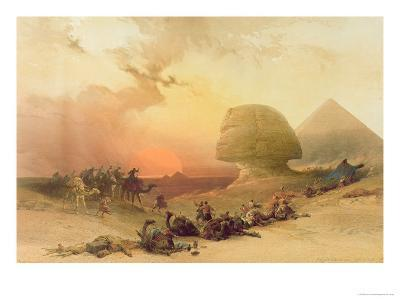 The Sphinx at Giza-David Roberts-Giclee Print
