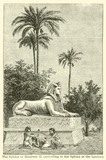 The Sphinx of Rameses Ii, According to the Sphinx at the Louvre--Giclee Print