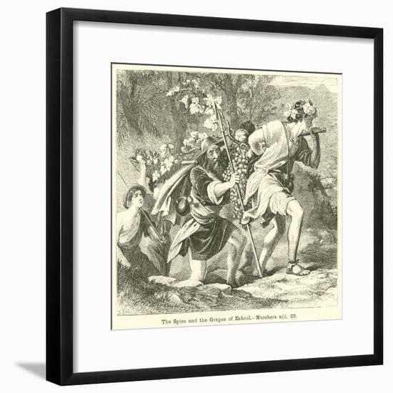 The Spies and the Grapes of Eshcol, Numbers, XIII, 23--Framed Giclee Print