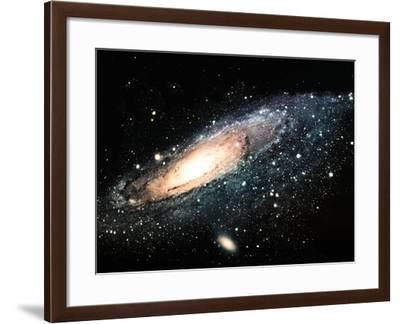 The Spiral Galaxy- njaj-Framed Art Print