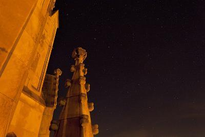 The Spires of Shapard Tower Against a Starry Night Sky-Stephen Alvarez-Photographic Print