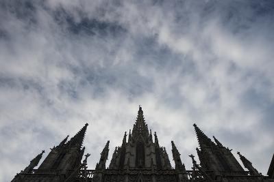 The Spires of the Catedral De Barcelona-Michael Melford-Photographic Print