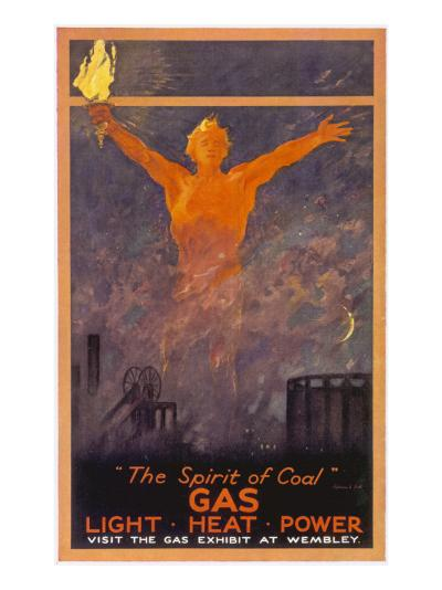 The Spirit of Coal - Gas, Light, Heat and Power (Wembley Exhibition)--Giclee Print