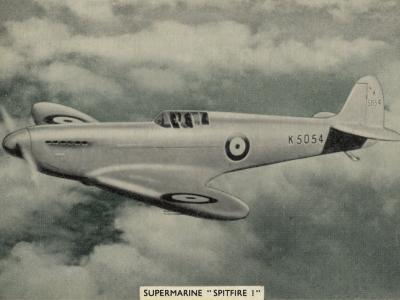 """The """"Spitfire"""" as It Appears at the Outbreak of World War Two a Magnificent Machine--Photographic Print"""