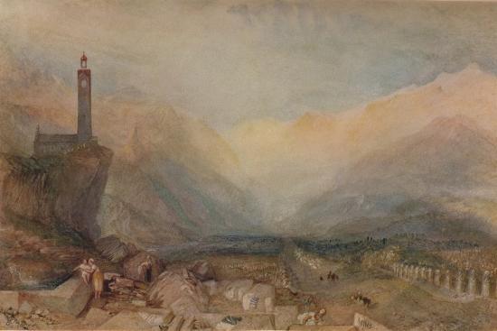 The Splugen Pass', c1841, (1938)-JMW Turner-Giclee Print