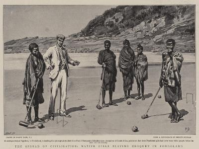 The Spread of Civilisation, Native Girls Playing Croquet in Pondoland-Frank Dadd-Giclee Print