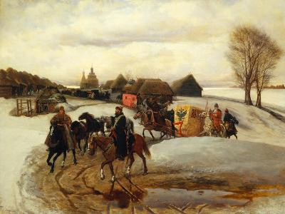 The Spring Pilgrimage of the Tsarina at the Time of Tsar Alexis I Mikhailovich, 1868-Vyacheslav Grigoryevich Schwarz-Giclee Print