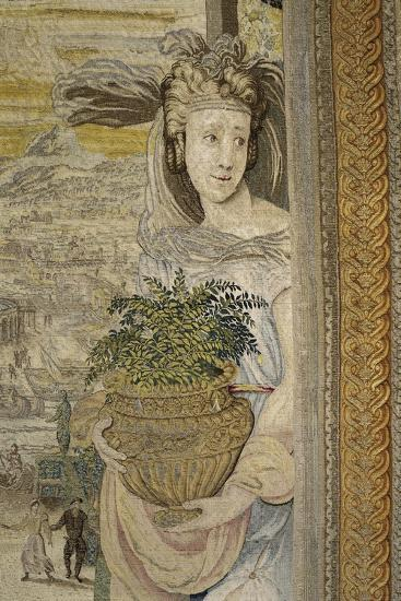 The Spring Season, 16th Century Tapestry Woven--Giclee Print