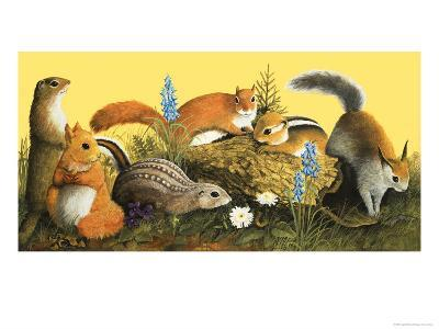 The Squirrel Family, Illustration from Once Upon a Time--Giclee Print