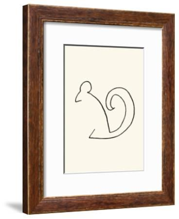 The Squirrel-Pablo Picasso-Framed Serigraph