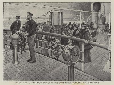 The Ss Berlin, the Latest Addition to the Great Eastern Company's Continental Fleet--Giclee Print