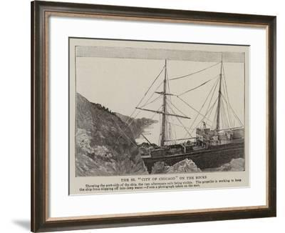 The SS City of Chicago on the Rocks--Framed Giclee Print