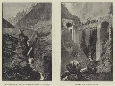 The St Gothard Railway--Giclee Print