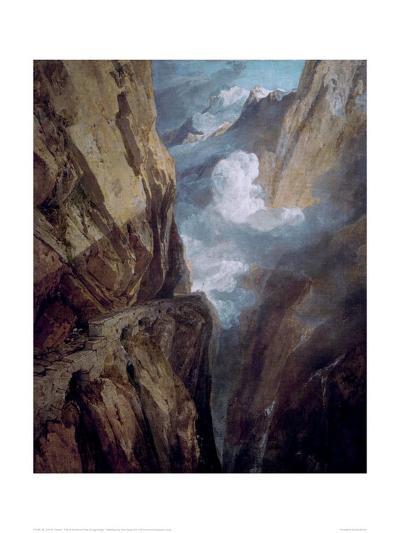 The St Gotthard Pass-J^ M^ W^ Turner-Giclee Print