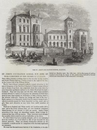 The St John's Foundation School for Sons of Poor Clergymen of the Church of England--Giclee Print