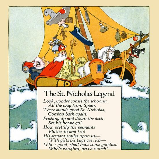 The St. Nicholas Legend- Maud & Miska Petersham-Art Print