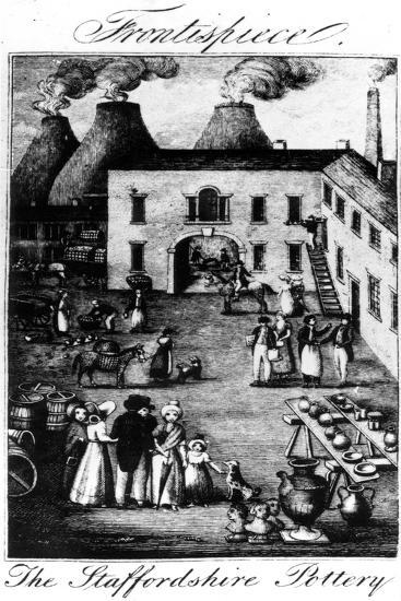 The Staffordshire Pottery, Taken from , 1827--Giclee Print