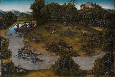 The Stag Hunt of the Elector Frederick the Wise, c.1530-Lucas, The Elder Cranach-Giclee Print