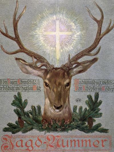 The Stag of St. Hubert--Giclee Print