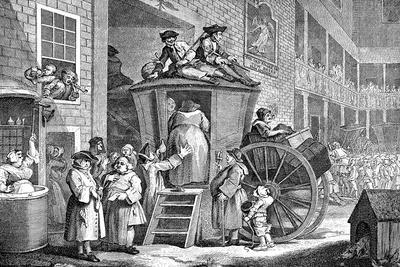 The Stage Coach or Country Inn Yard, 1747-William Hogarth-Giclee Print