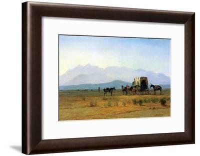 The Stagecoach in the Rockies-Albert Bierstadt-Framed Art Print