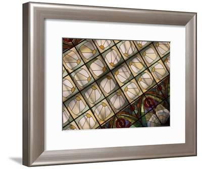 The Stained Glass Ceiling in the Grand Hotel Europa Dining Room-Richard Nowitz-Framed Photographic Print