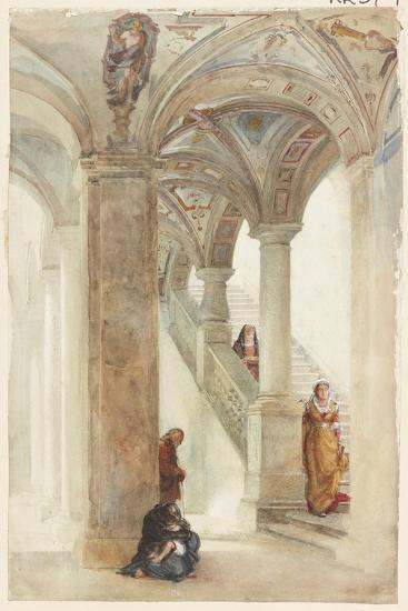 The Staircase of a Palace-William Wood Deane-Giclee Print