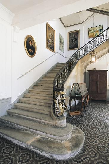 The Staircase of Chateau Latour, Midi-Pyrenees, France--Photographic Print