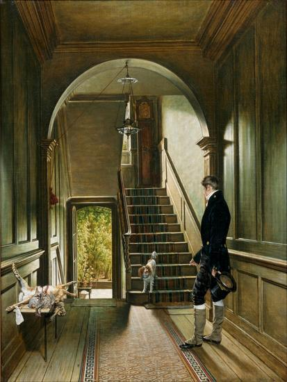 The Staircase of the London Residence of the Painter, 1828-Pieter Christoffel Wonder-Giclee Print
