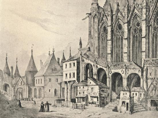 'The Staircase of the Sainte-Chapelle', 1700 (1915)-Unknown-Giclee Print