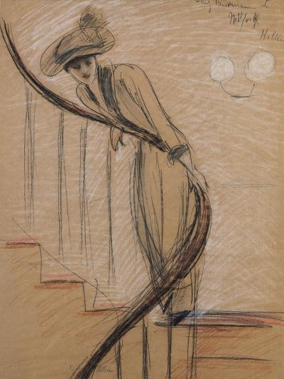 The Staircase-Paul Cesar Helleu-Giclee Print