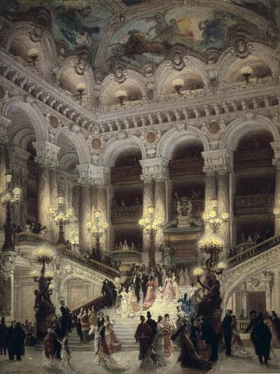 The Stairway of the Opera, Paris-Jean B?raud-Art Print