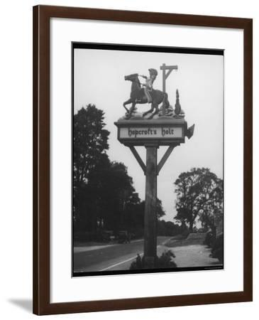 """The """"Stand and Deliver"""" Sign of Hopcroft's Halt Oxfordshire England--Framed Photographic Print"""