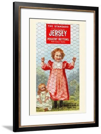 The Standard Jersey Poultry Netting--Framed Art Print