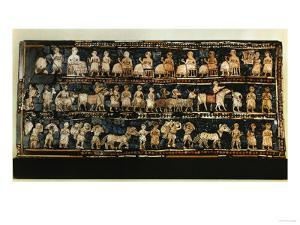 The Standard of Ur, War and Triumph of a King of the 1st Dynasty of Ur, 2600 BCE