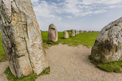 The Standing Stones in a Shape of a Ship known as Als Stene (Aleos Stones) (Ale's Stones)-Michael Nolan-Photographic Print