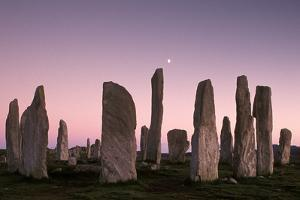 The Standing Stones of Callanish at Dusk, Isle of Lewis, Na H-Eileanan an Iar (Western Isles), Scot