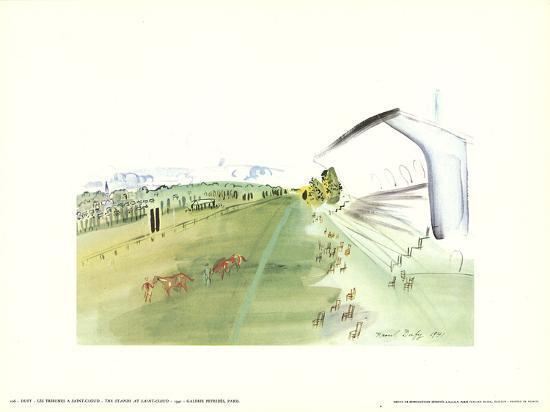 The Stands at Saint-Cloud-Raoul Dufy-Art Print