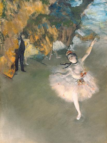 The Star, or Dancer on the Stage, circa 1876-77-Edgar Degas-Premium Giclee Print