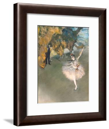 The Star, or Dancer on the Stage, circa 1876-77-Edgar Degas-Framed Giclee Print