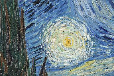 The Starry Night, June 1889 (Detail)-Vincent van Gogh-Wall Mural