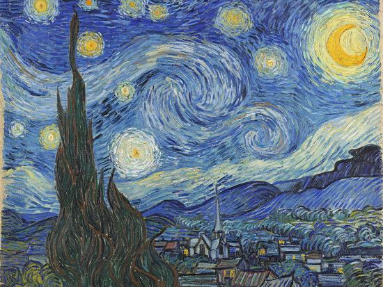 The Starry Night, June 1889-Vincent van Gogh-Giclee Print