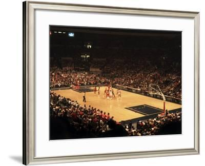 The Start of a Basketball Game--Framed Photographic Print