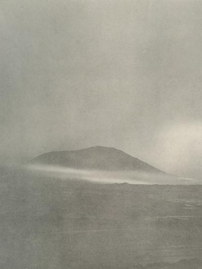 'The Start of a Blizzard...Drift Coming Round Mount Erebus', c1908, (1909)-Unknown-Photographic Print